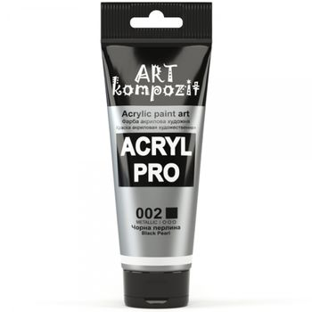 Краска акриловая Art Kompozit (002) черная жемчужина, 75 мл