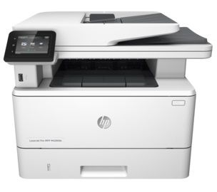 """HP LaserJet Pro MFP M426fdw Print/Copy/Scan/Fax 40ppm, 256MB, Duplex, 50 sheets DADF, 1200dpi, 3"""" touch display, up to 80000 pag., USB 2.0, Host USB, Gigabit Ethernet, Wireless 802.11, HP PCL 5,6; Postcript 3, direct PDF, ePrint,  AirPrint, White"""