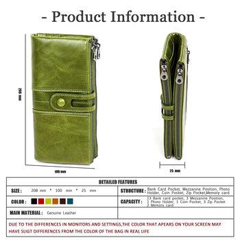 купить Длинный кошелек для женщин и девочек из натуральной  кожи. в Кишинёве