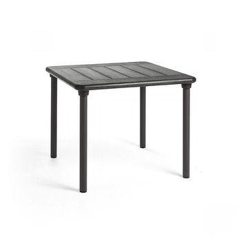 Стол Nardi MAESTRALE 90 ANTRACITE vern. antracite 42052.02.000 (Стол раздвижной для сада террасы балкон)