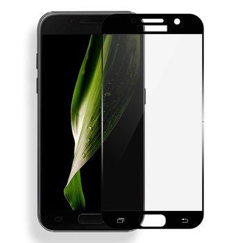 Защитное стекло Samsung A320 BLACK (5D )