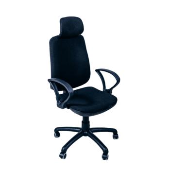 Офисное кресло Regbi черная ткань (подголовник A-01)