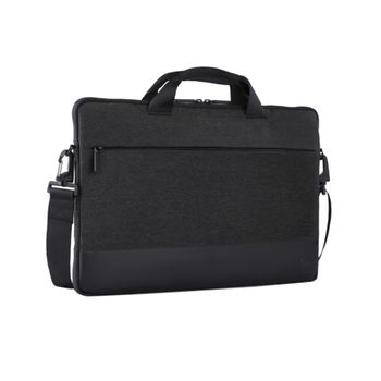 "14"" NB Bag - Dell Professional Sleeve 14,  The professionally chic heather dark grey exterior and plush-lined interior protect your laptop from scratches or damage, Black/Grey"
