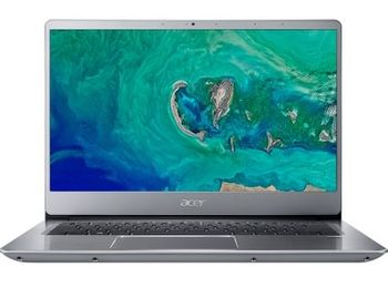 "ACER Swift 3 Sparkly Silver (NX.H4CEU.009), 14.0"" IPS FullHD (Intel® Core™ i3-8145U 3.90GHz (Whiskey Lake), 8Gb (2x4) DDR4 RAM, 128Gb SSD, Intel® UHD Graphics 620, CardReader, WiFi-AC/BT, FPR, Backlit KB, 4cell, HD Webcam, RUS, Linux, 1.6kg, 18mm)"