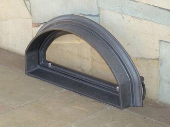 Дверца чугунная со стеклом правая PIZZA 8