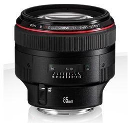 Prime Lens Canon EF 85 mm f/1.2L II USM