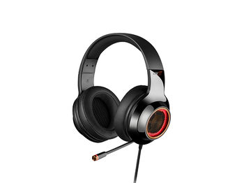 Edifier G4Pro Black / Gaming On-ear headphones with microphone, 7.1 Virtual Surround Sound, Vibration for a more immersive experience, RGB light, Dynamic driver 40 mm, Frequency response 20 Hz-20 kHz, USB