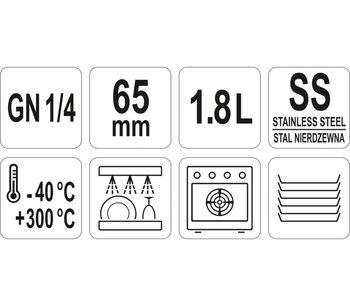 купить Гастроемкость из нержавеющей стали  GN 1/4 65 в Кишинёве