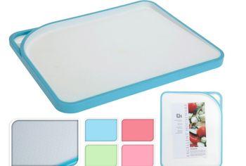 cumpără Tocator din plastic EH 34X28cm, alb, margine diverse culori în Chișinău