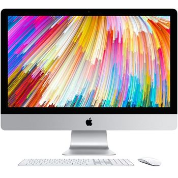 "All-in-One PC - 27.0"" APPLE iMac (Mid 2017) 5K Retina IPS, 3.4 GHz Intel Core i5 Quad-Core, 8GB DDR4 RAM, 1TB Fusion Drive, AMD Radeon Pro 570 4GB, Card Reader, Thunderbolt 3, 802.11ac Wi-Fi/BT4.2, Magic Keyboard & Magic Mouse 2, macOS High Sierra"
