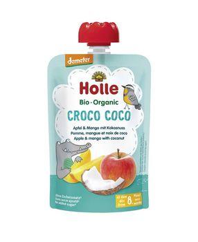 Пюре Croco Coco с яблоком, манго и кокосом с 8 месяцев Holle Bio Organic, 100 г