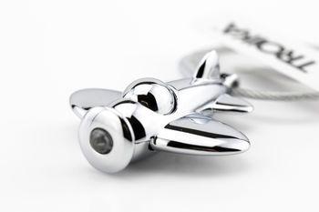 """купить Металлический брелок  TROIKA для ключей со светодиодом  """"Самолет"""" в Кишинёве"""