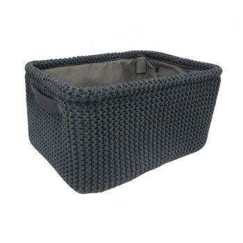 cumpără Coș tricot 360x260x180 mm, negru în Chișinău