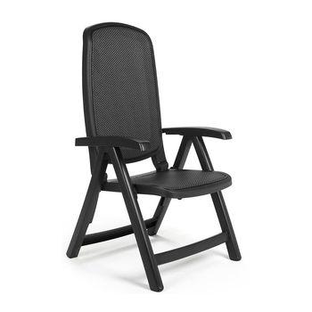 Кресло складное Nardi DELTA ANTRACITE trama antracite 40310.02.116 (Кресло складное для сада и террасы)