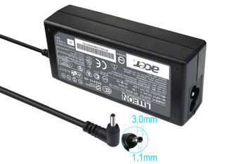 AC Adapter Charger For Acer 19V-3.42A (65W) Round DC Jack 3.0*1.0mm Original