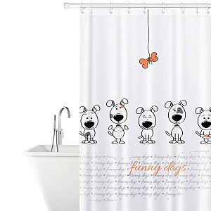 """купить Tatkraft """"DOGS"""" штора для ванной, с кольцами, 180 х 180 см 17511 в Кишинёве"""
