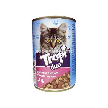 cumpără Tropi Duo în sos cu rață și inimă 415 gr în Chișinău