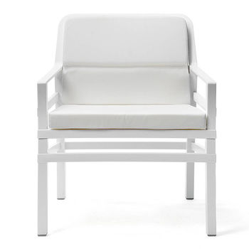 Кресло с подушками Nardi ARIA FIT BIANCO bianco 40330.00.155.FIT (Кресло с подушками для сада и терас)