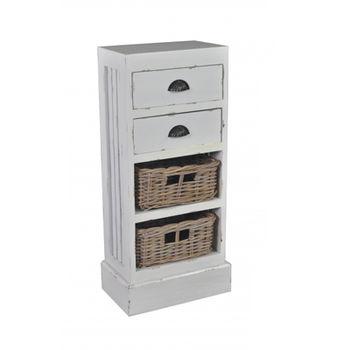 cumpără Comodă cu 2 sertare şi 2 coşuri White Cloud 410x240x900 mm în Chișinău