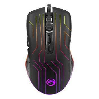 """MARVO """"M313"""", Gaming Mouse, 800/1600/2400/3200/4800/6400 dpi adjustable, Optical sensor, 7 (programmable) buttons, RGB , Braided cable, USB, Black"""