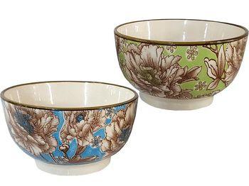 Salatiera D12cm, flori, din ceramica