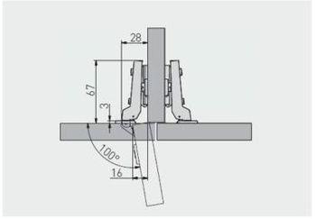 Balama semiaplicată fără amortizor GTV