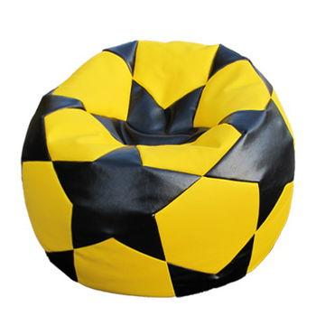 Bean bag Football BIG STAR Yelow&Black Кресло мешок Футбольный Мяч
