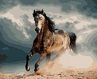 """Картина по номерам 40x50 Artissimo """"Конь в яблоках"""""""