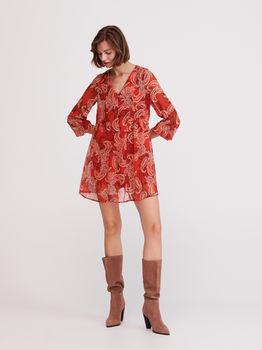 Платье RESERVED Красный с принтом xt241