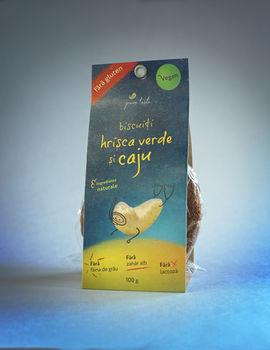 Печенье из зеленой гречки без глютена, 100 г