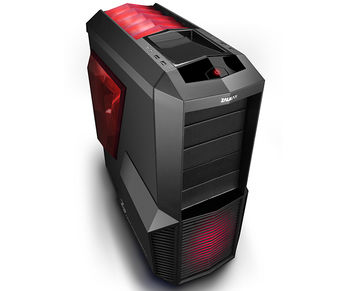 "ZALMAN ""Z11 PLUS HF1"" ATX Case, with Side-Window, without PSU, Tool-less, 5 fans pre-installed (3x 120mm Red LED fan, 2x 80mm fan), 3-in-1 Bracket Provided, Bottom mounted PSU, 2xUSB3.0, 2xUSB2.0 /Audio, Black"