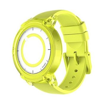"""Mobvoi  Ticwatch E  Lemon Yellow, 1.4"""" OLED Touch Display, Wear OS by Google, 512MB/4GB, Time, Mic/Speaker for incoming calls, Heart Rate, Steps, Alarm, Distance Display, Average Daily Steps, Weather, Notifications, IP67, 48Hrs+, BT4.1, 41.5g"""