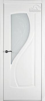 купить Дверь ИРИДА эмаль белая остекленная в Кишинёве