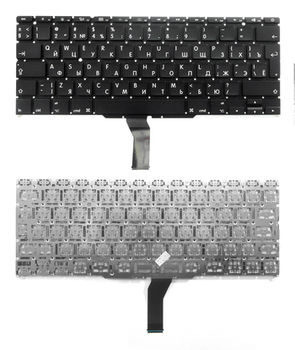 "Keyboard Apple Macbook Air 11"" A1370 A1465 w/o frame ""ENTER""-big ENG/RU Black"