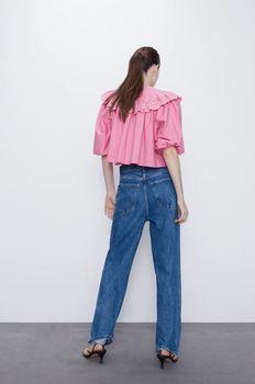 Блуза ZARA Розовый 7521/002/620