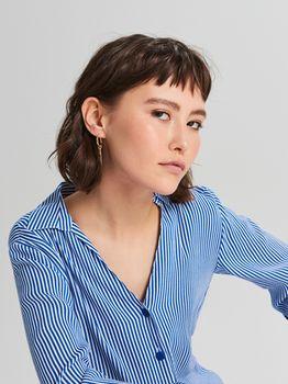 Блуза CROPP Белый в синюю полоску