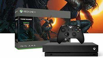 cumpără Microsoft Xbox One X 1TB Black 1 x Gamepad (Xbox One Controller) + Game Shadow of Tomb Raider în Chișinău