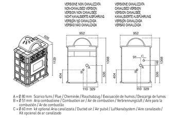 Печь пеллетная - AGNESE 11 кВт