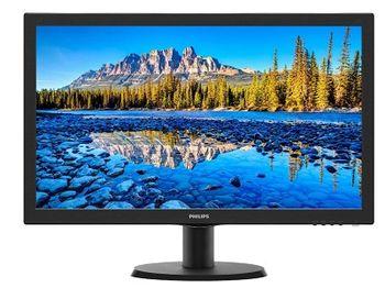 """23.6"""" PHILIPS LED 243V5LHSB Black (1ms, 10M:1, 250cd, 1920x1080I, VGA, DVI, HDMI, VESA)"""