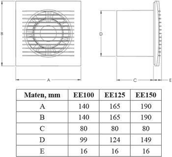 купить Вентилятор Ø100 E-EXTRA - EE100T + ТАЙМЕР - 100 м3/ч, 15W  Europlast в Кишинёве