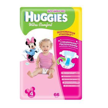 Huggies  Ultra Comfort 4 для девочек