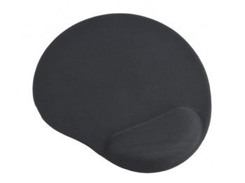 купить Gembird MP-GEL-BK, Gel mouse pad with wrist support, black в Кишинёве