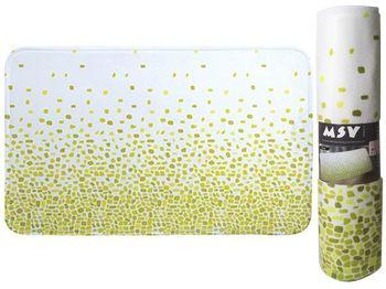 Коврик для ванной комнаты 45X75cm Brest зелeный, микрофибра