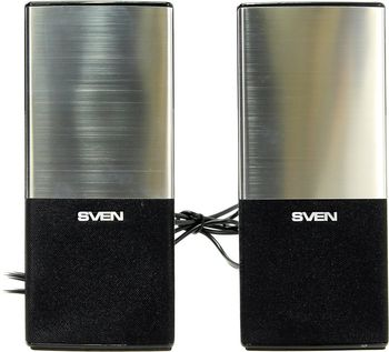 SVEN 249 Black (USB),  2.0 / 2x2W RMS, USB power supply, headphone jack, microphone input, 2.25""