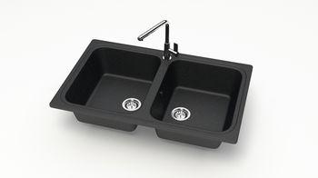 купить Матовые кухонные мойки из литьевого мрамора  (черный.) F020Q4 в Кишинёве