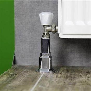 купить Декор.накладка на трубу (16-20мм) радиатора пласт-CHROME (2,4', 50mm-160mm) RADIVA в Кишинёве