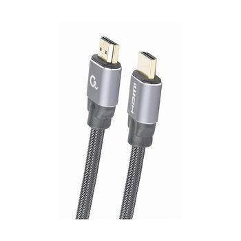 Gembird HDMI 2.0 CCBP-HDMI-2M, Premium series 2 m, High speed with Ethernet, Supports 4K UHD resolution at 60Hz, Nylon, Gold plated connectors, Copper AWG30