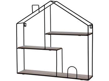Raft Casa 3 nivele 50X50X11cm, metal, lemn