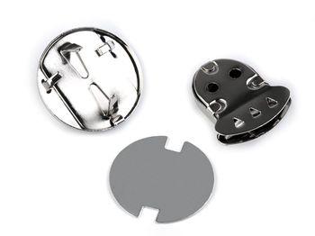 Închizătoare geantă, model Inimă / nickel negru