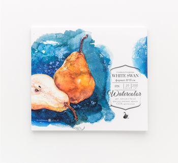 "Склейка для акварели ""White Swan"", Fin, 200 г/м2, 24х23 см, 20л"